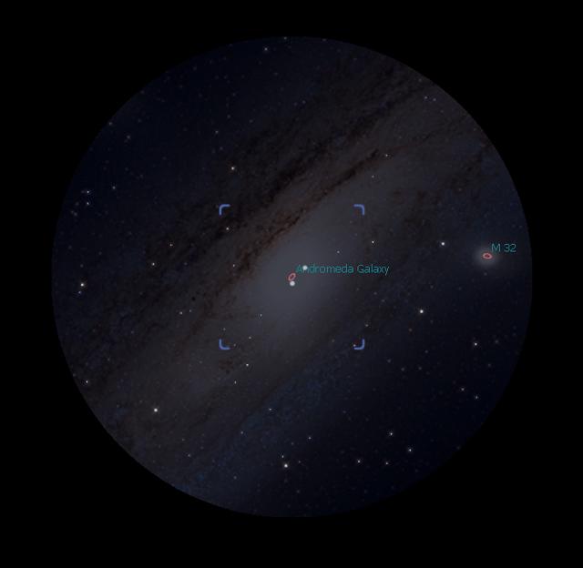 M31 M32 Rendering Stellarium